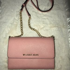 Micheal kors jet set travel pale pink
